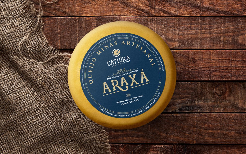 Criacao rotulo queijo Araxa gourmet