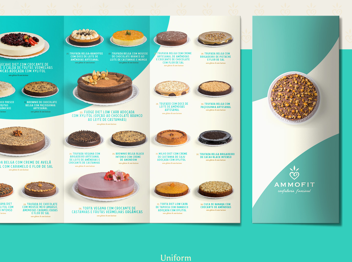Premium gourmet Pie catalogue design