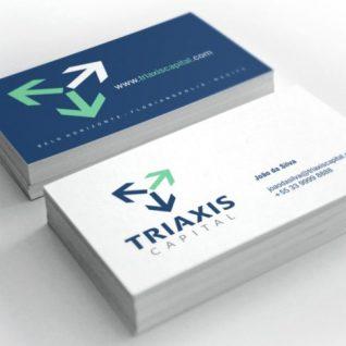 Imagem corporativa TRIAXIS CAPITAL - cartão de visita