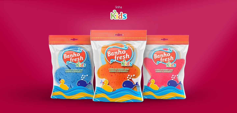 kids sponges packaging design