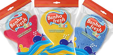 Design de embalagens para esponjas BANHO FRESH