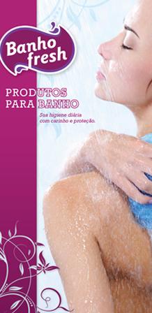 Design de Catálogo para linha de esponjas BANHO FRESH