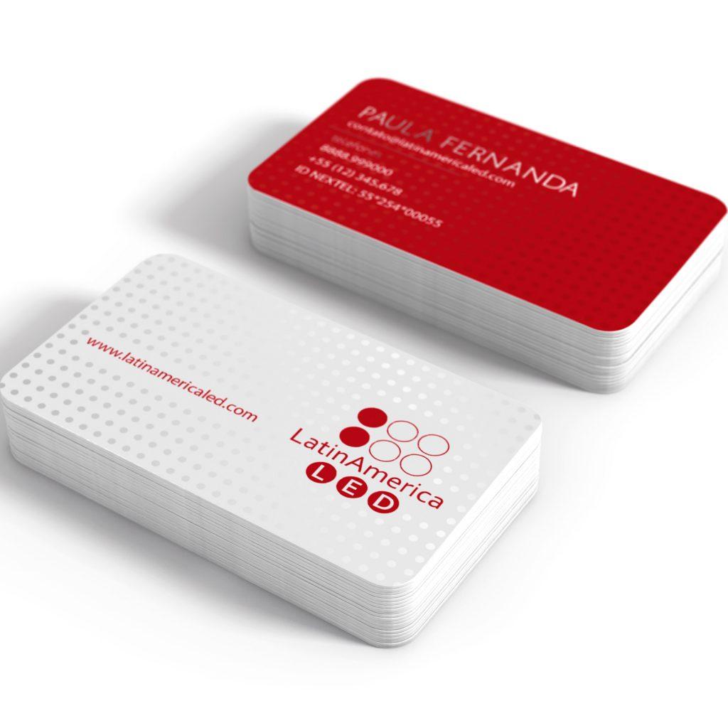 O3 Design - LatinAmerica LED cartão de visitas