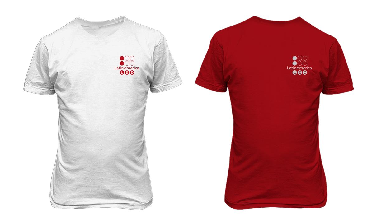 O3 Design - Logo LatinAmerica LED camiseta