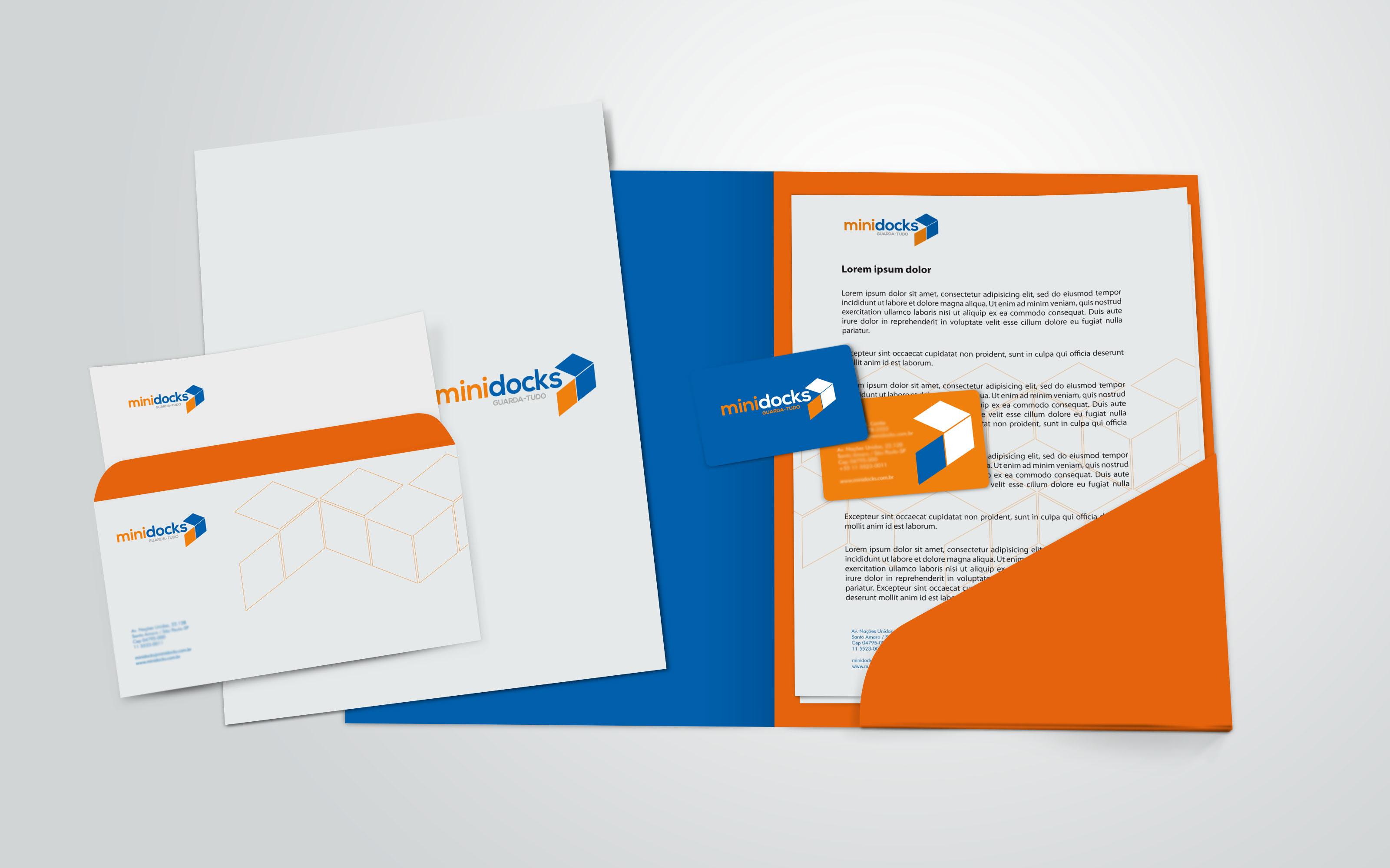 O3 Design - minidocks Corporate Stationery