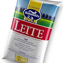 Design de Sachet de leite LATICÍNIO HOLANDÊS
