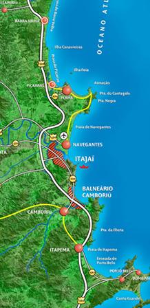 Ilustración mapa VALLE EUROPEO Santa Catarina