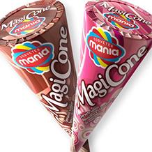 Design de embalagem Sorvete casquinha Magicone SORVETES MANIA
