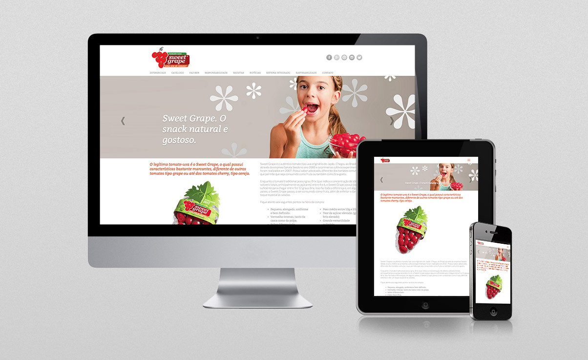 O3 Design - Webdesign para Sweet Grape