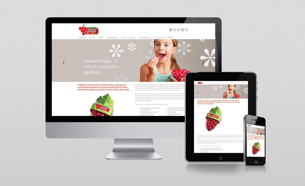 O3 Design - Webdesign para Sweet Grape