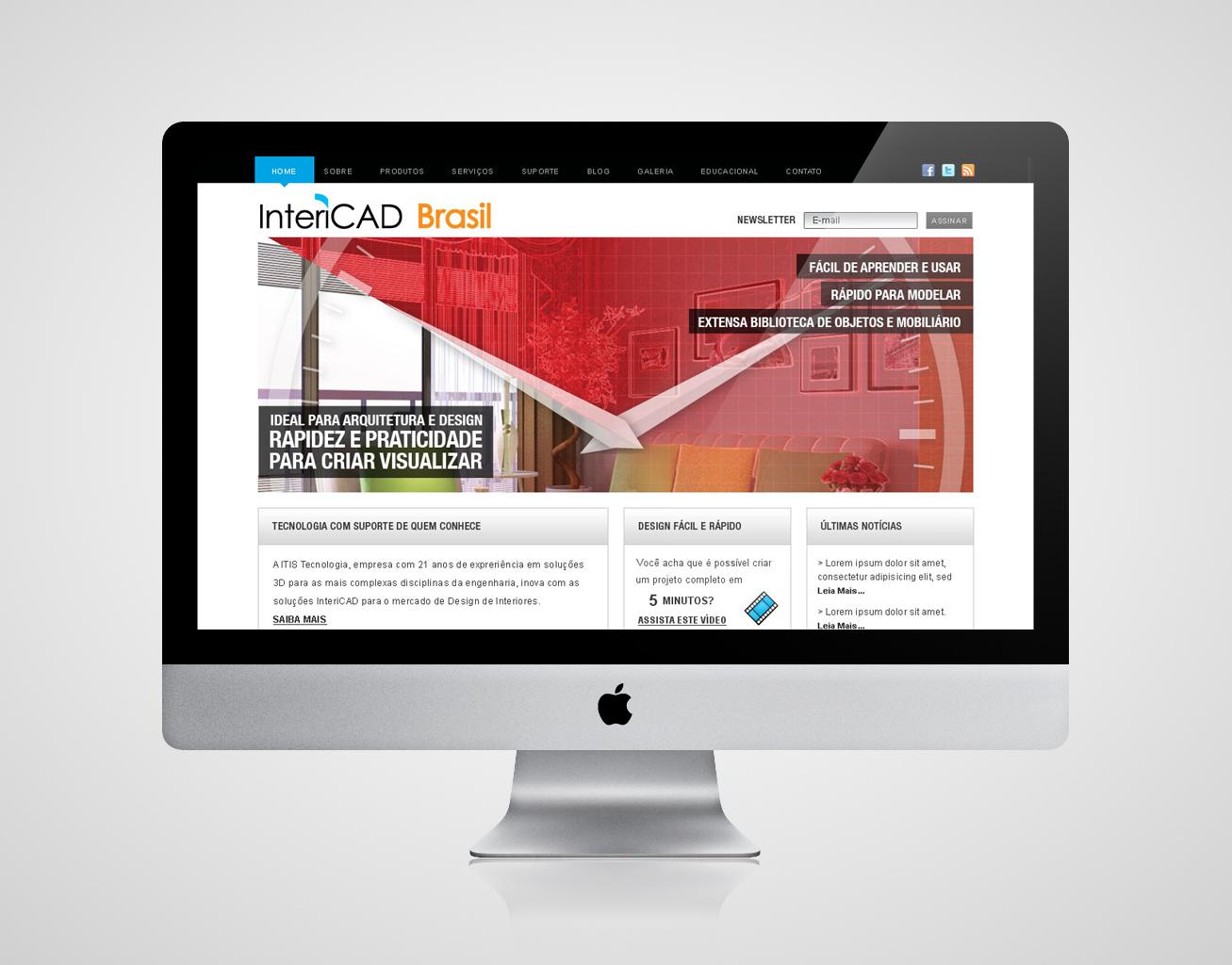 Criação de site para Intericad