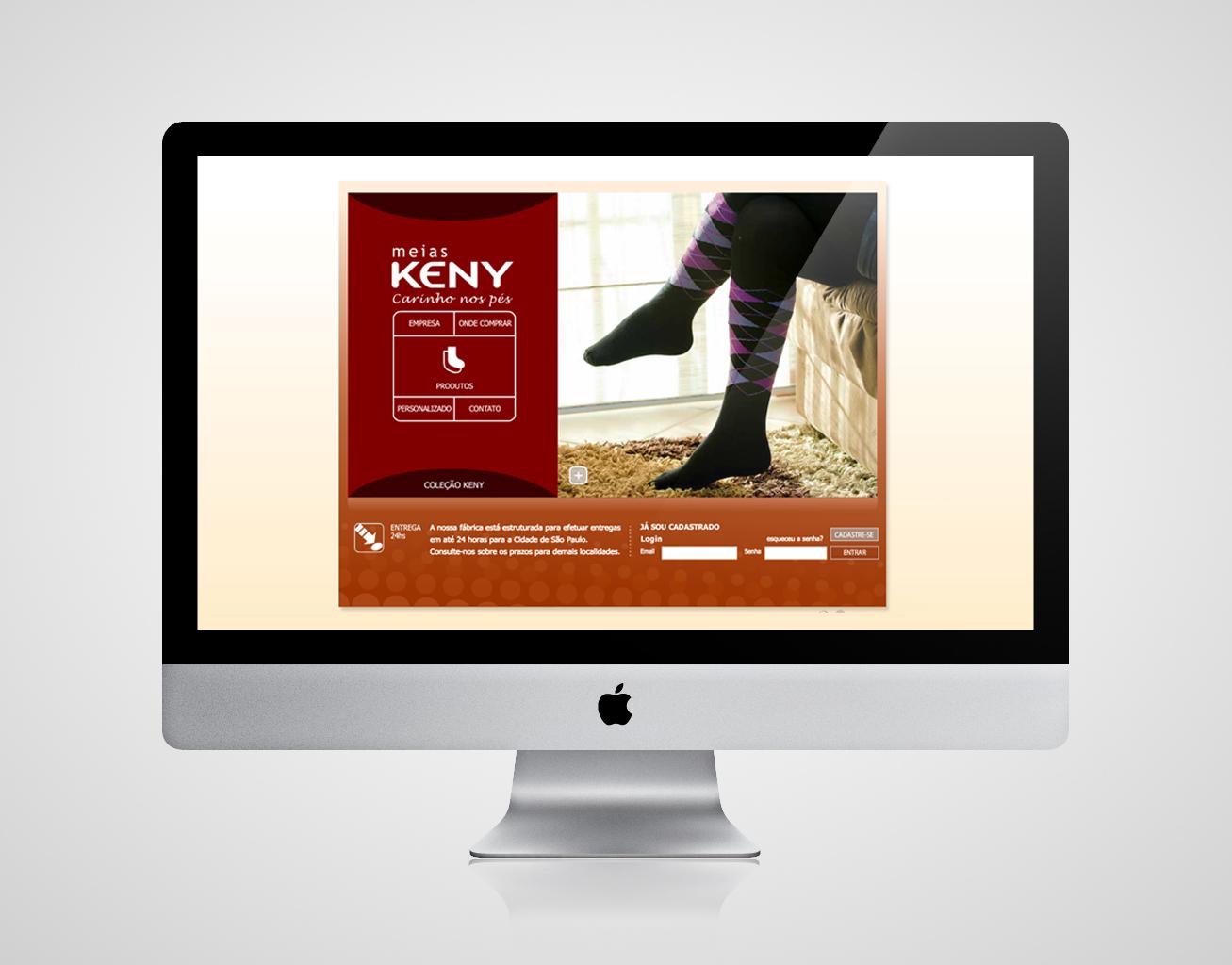 Criação de site para Meias Keny