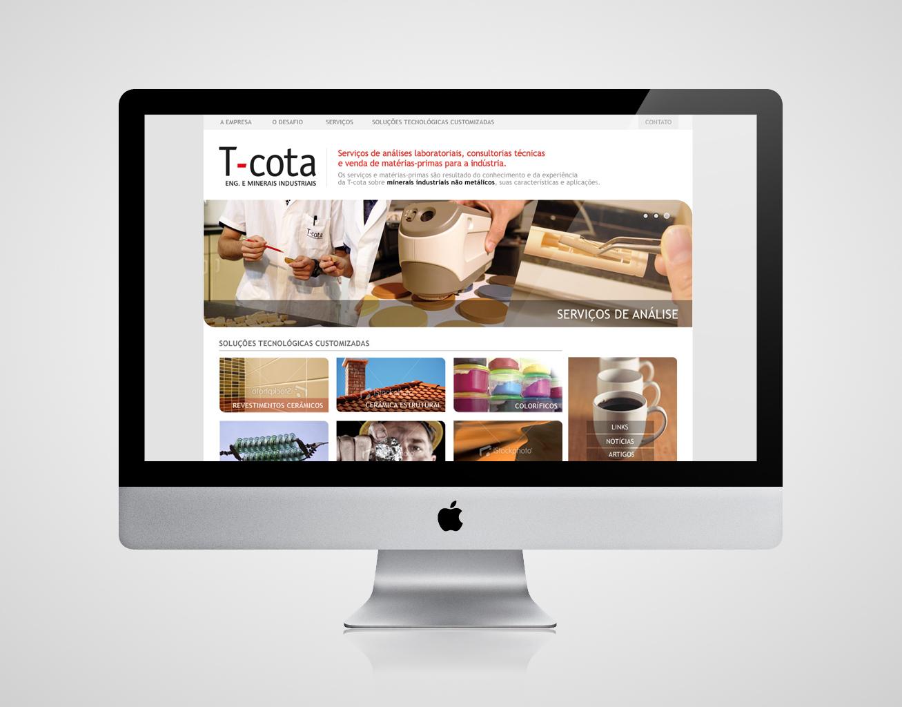 Webdesign para T-cota