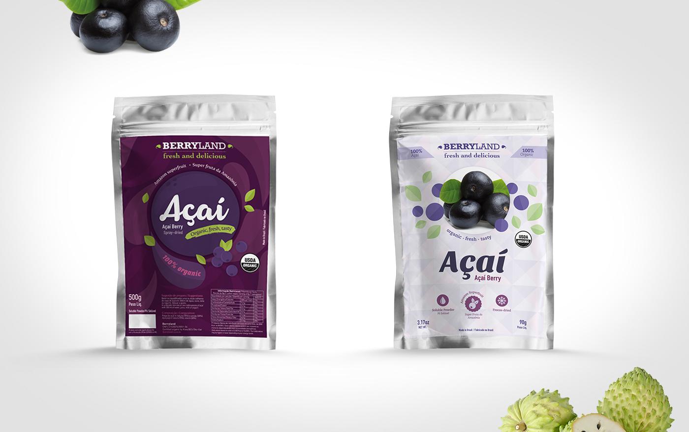 design de embalagem frutas liofilizadas
