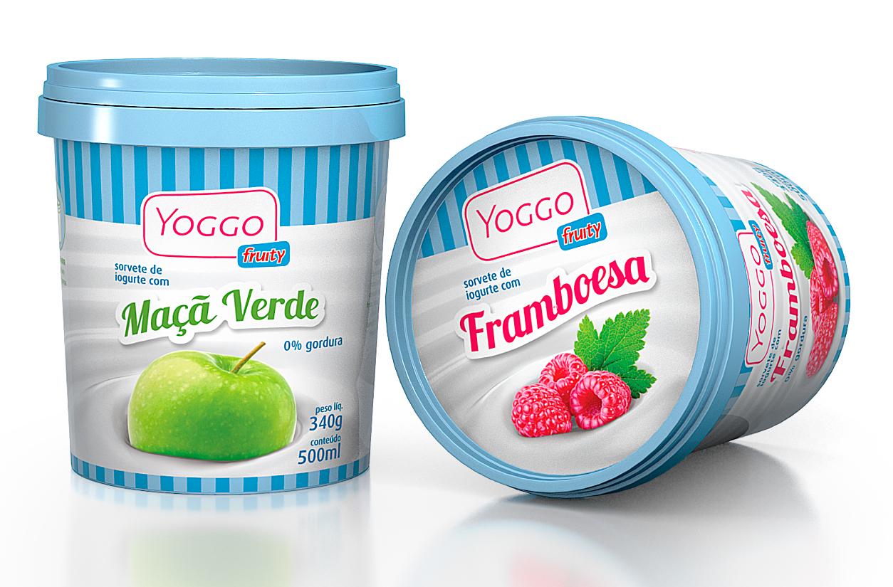 design de embalagem para frozen yogurt