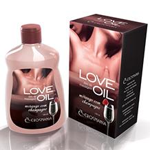 Design de caixa e rótulos Óleos de massagem LOVE OIL EROSMANIA