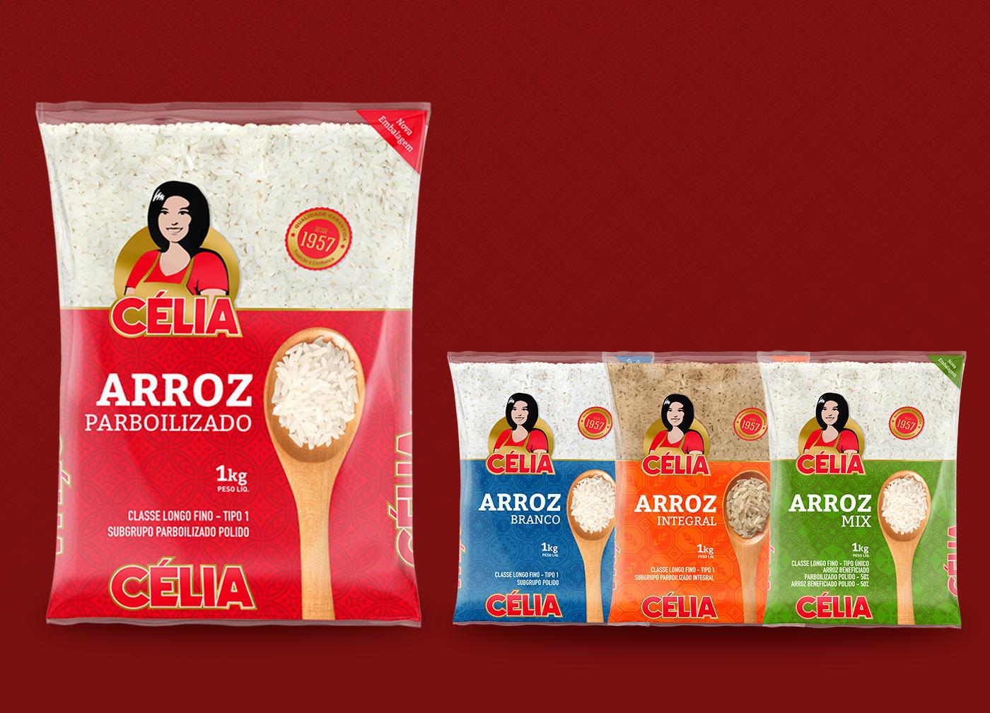 Design de embalagens arroz celia
