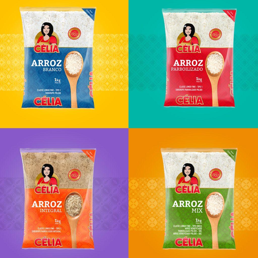 design de Embalagens Arroz Célia