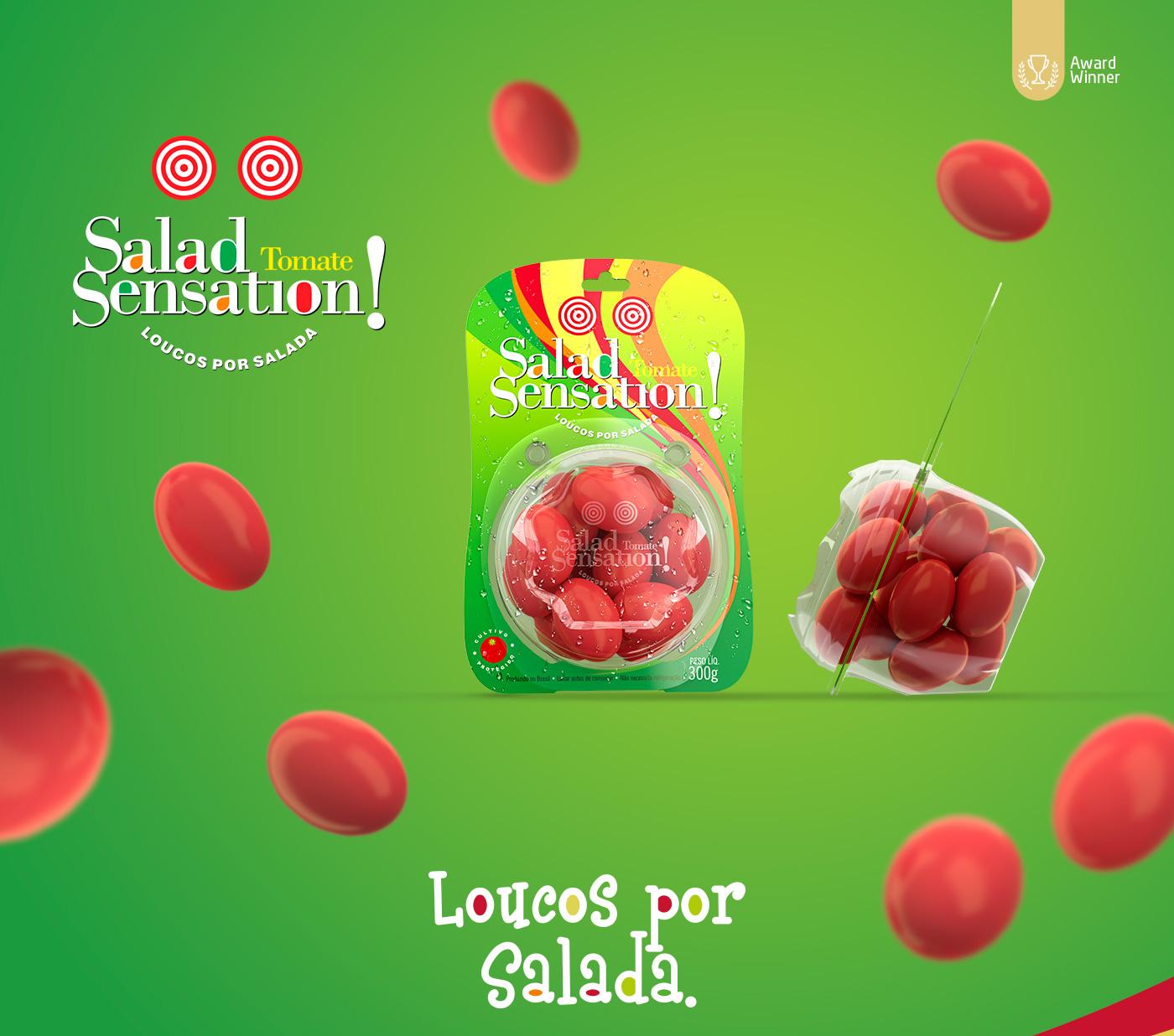 design Embalagem para tomates Salad Sensation