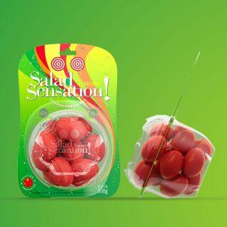 design de embalagem funcional para tomates
