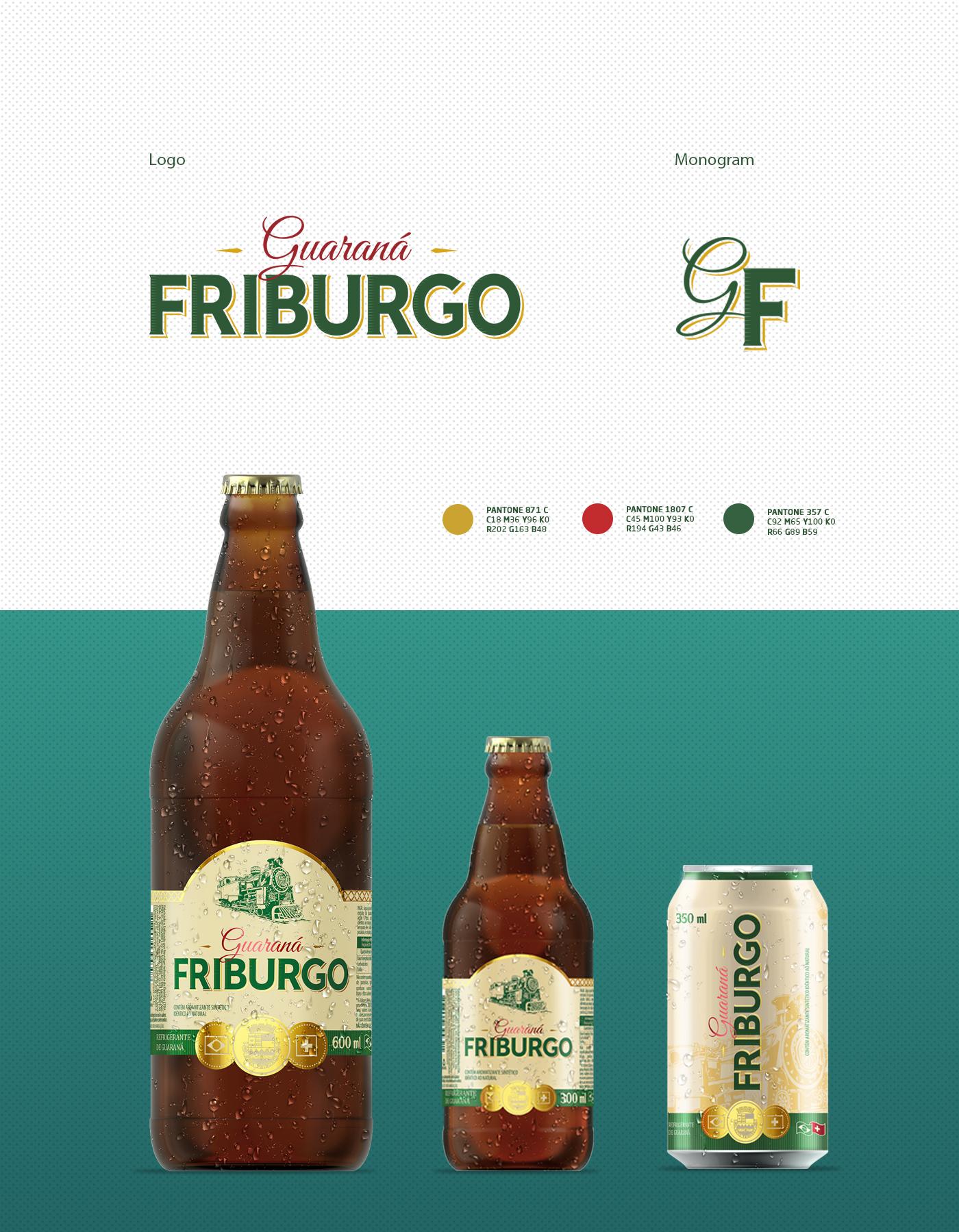 Logotipo Monograma embalagens refrigerante guaraná