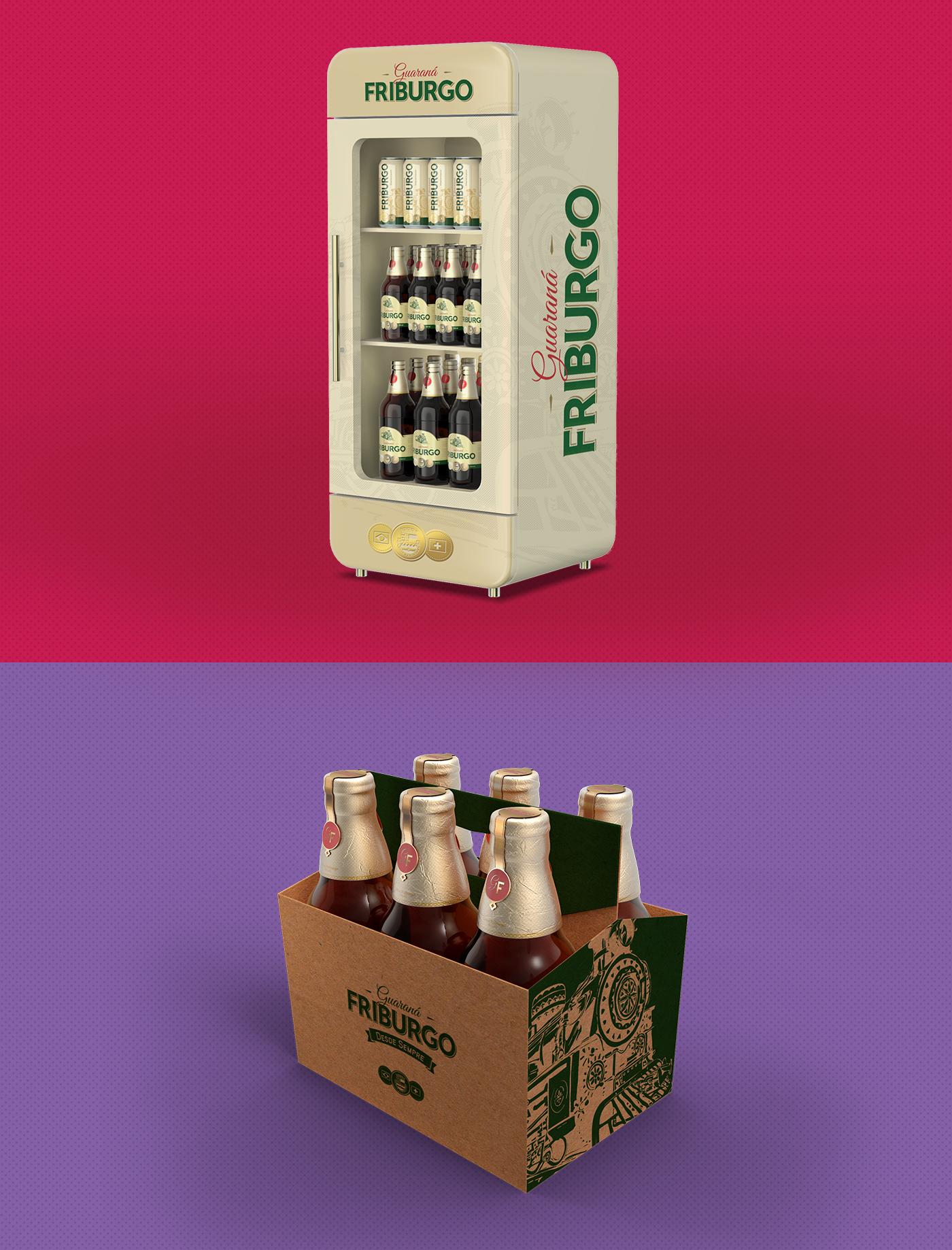 Geladeira personalizada refrigerante Guaraná Friburgo