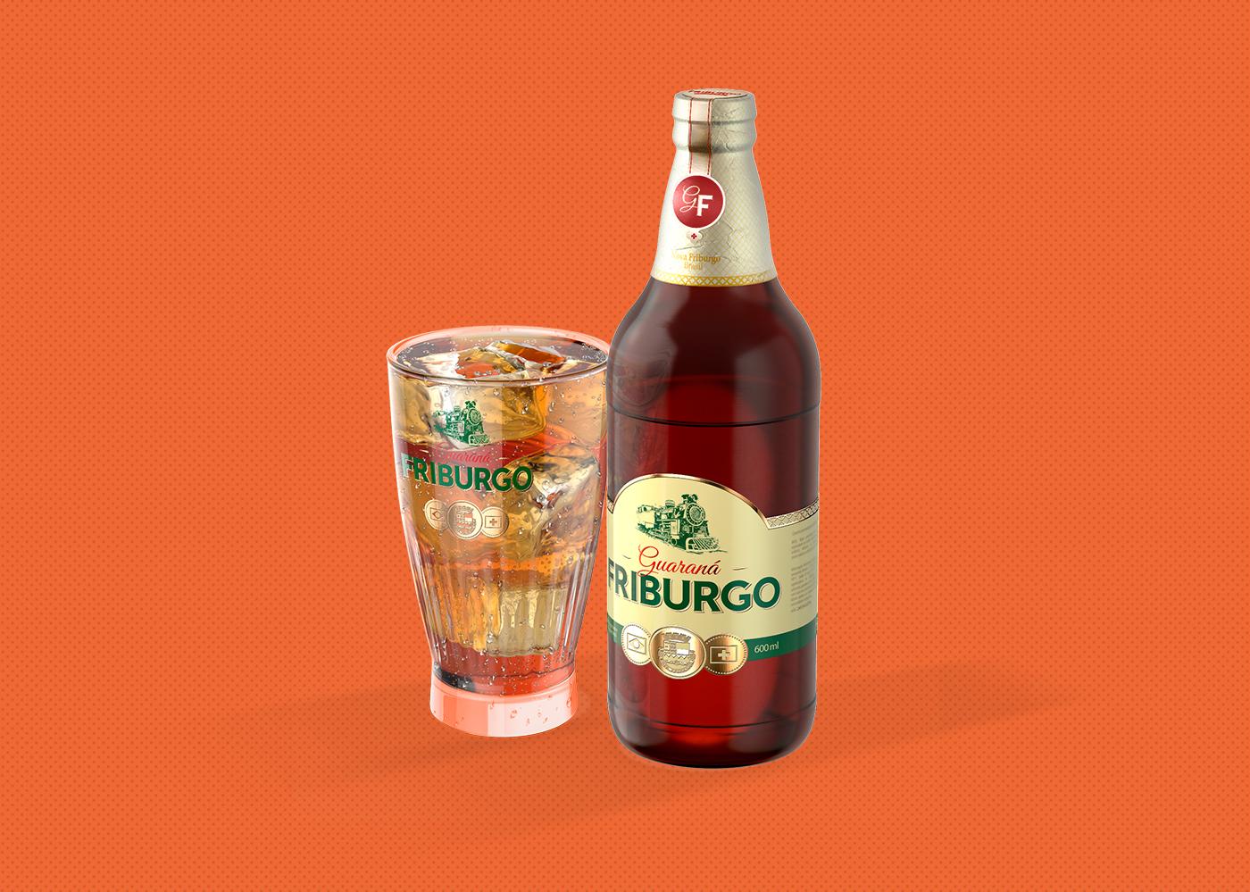 Copo e garrafa Guaraná Friburgo