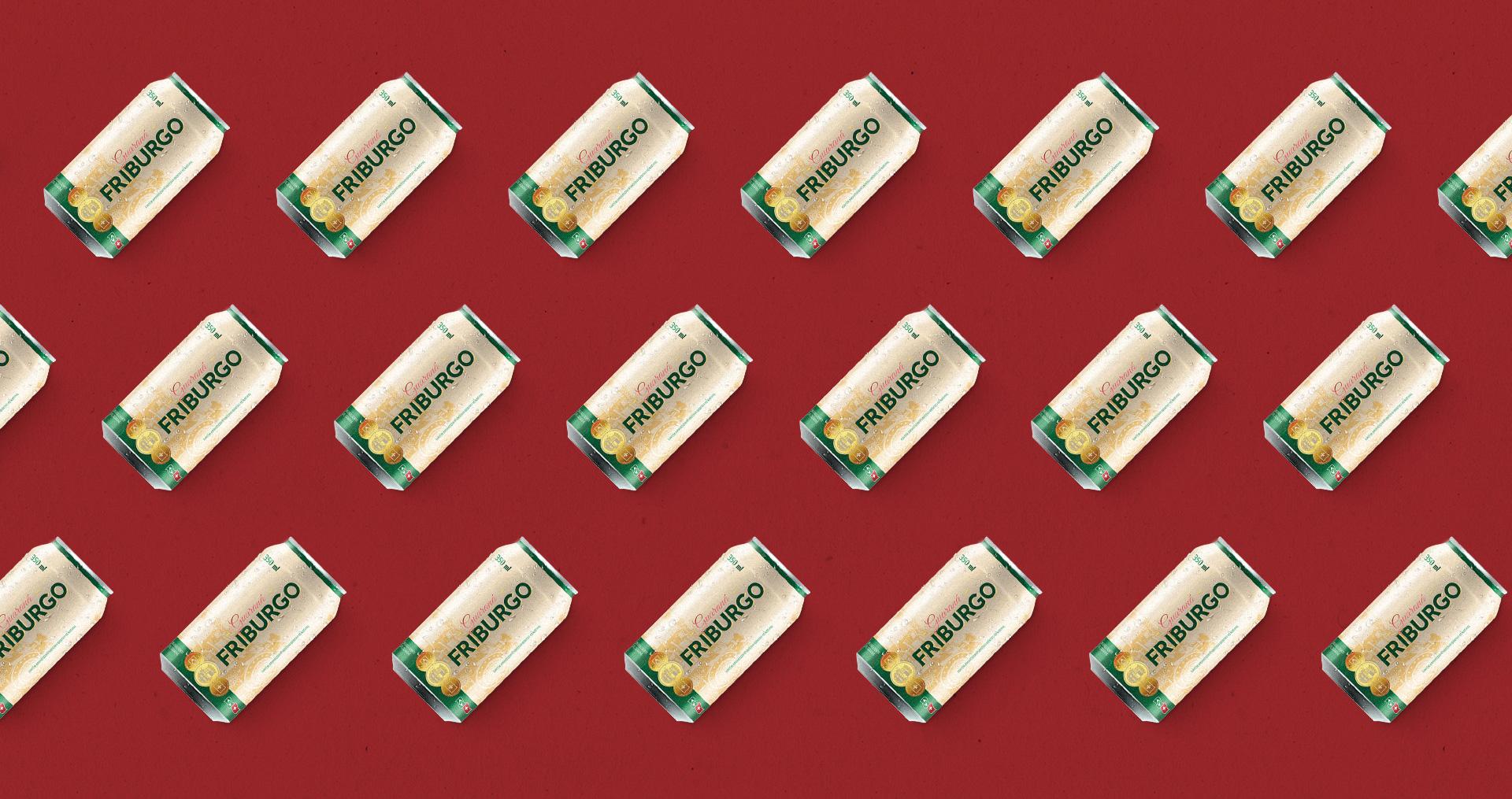 Design de identidade visual para refrigerante guaraná friburgo