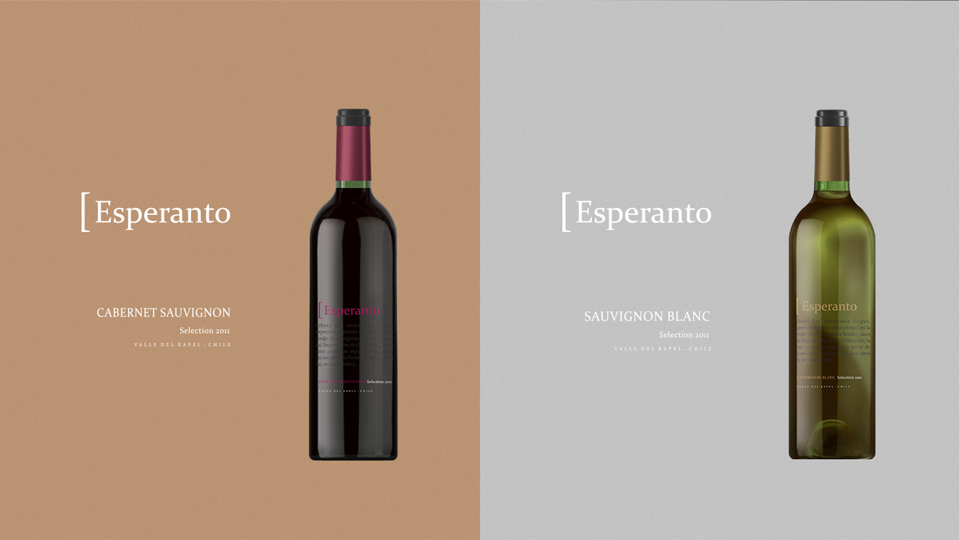 Garrafa vinho Esperanto