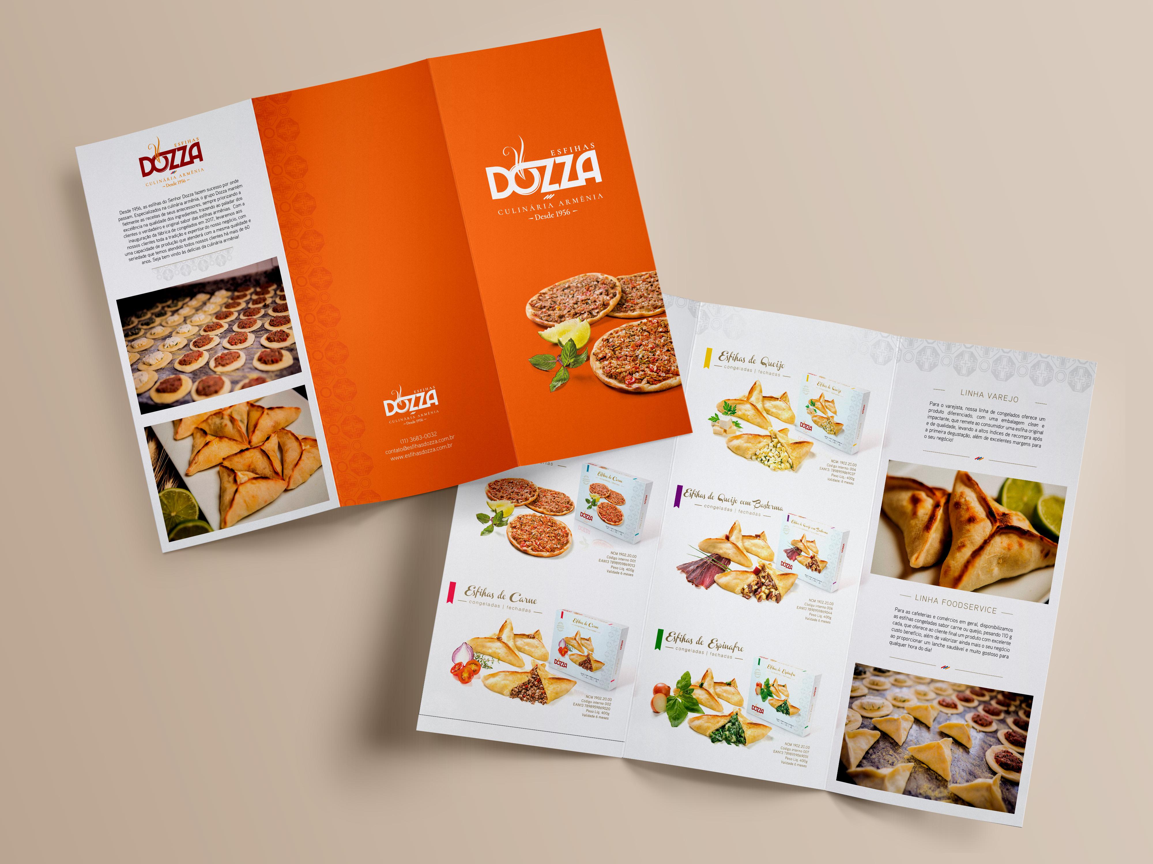 Catálogo de Produtos Esfihar Dozza Culinária Armênia