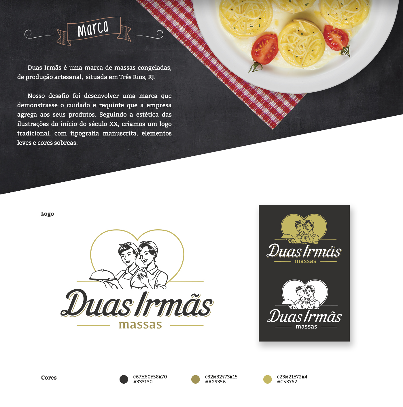design de marca e identidade para massas
