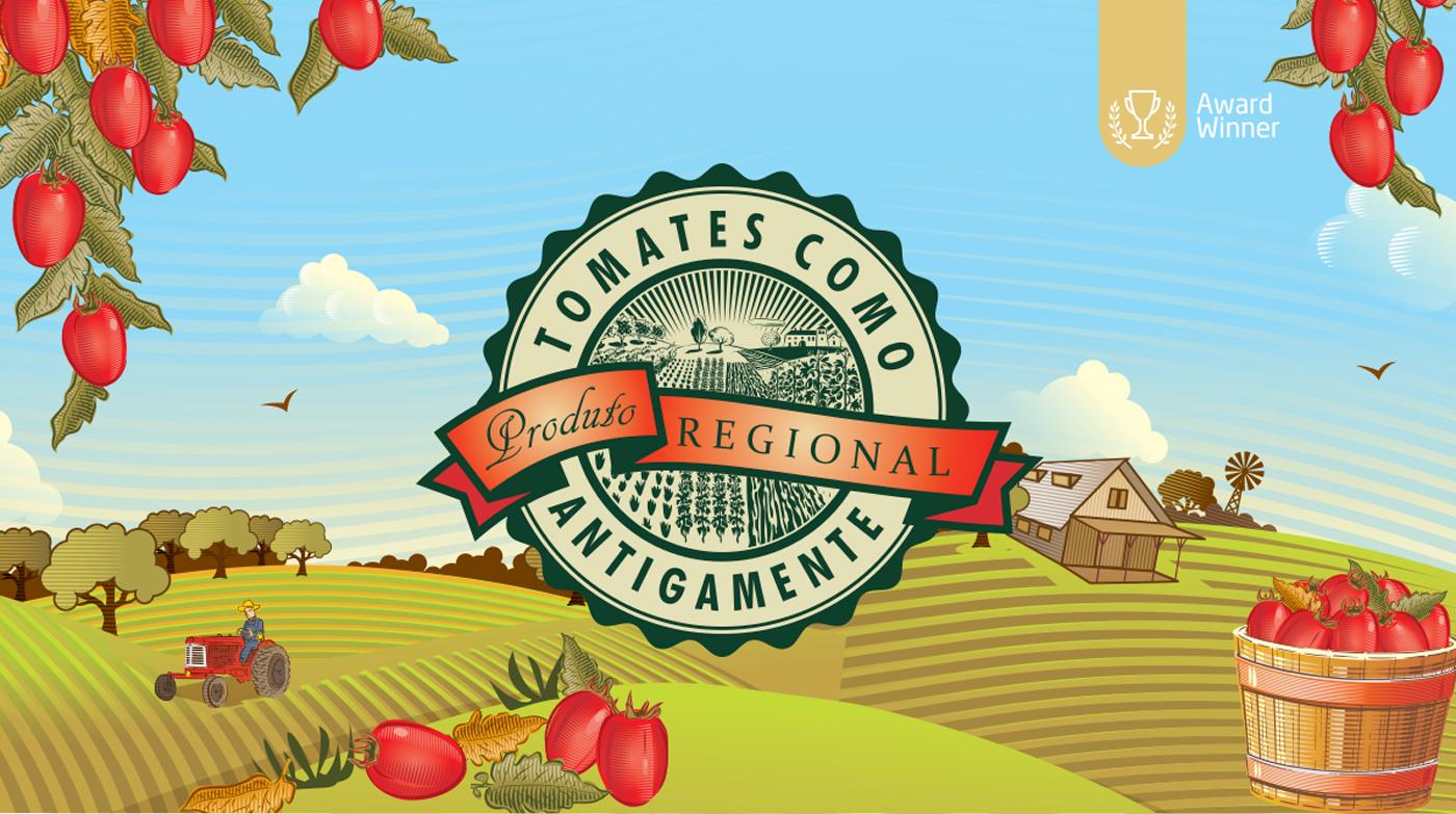 Logotipo Tomates como Antigamente