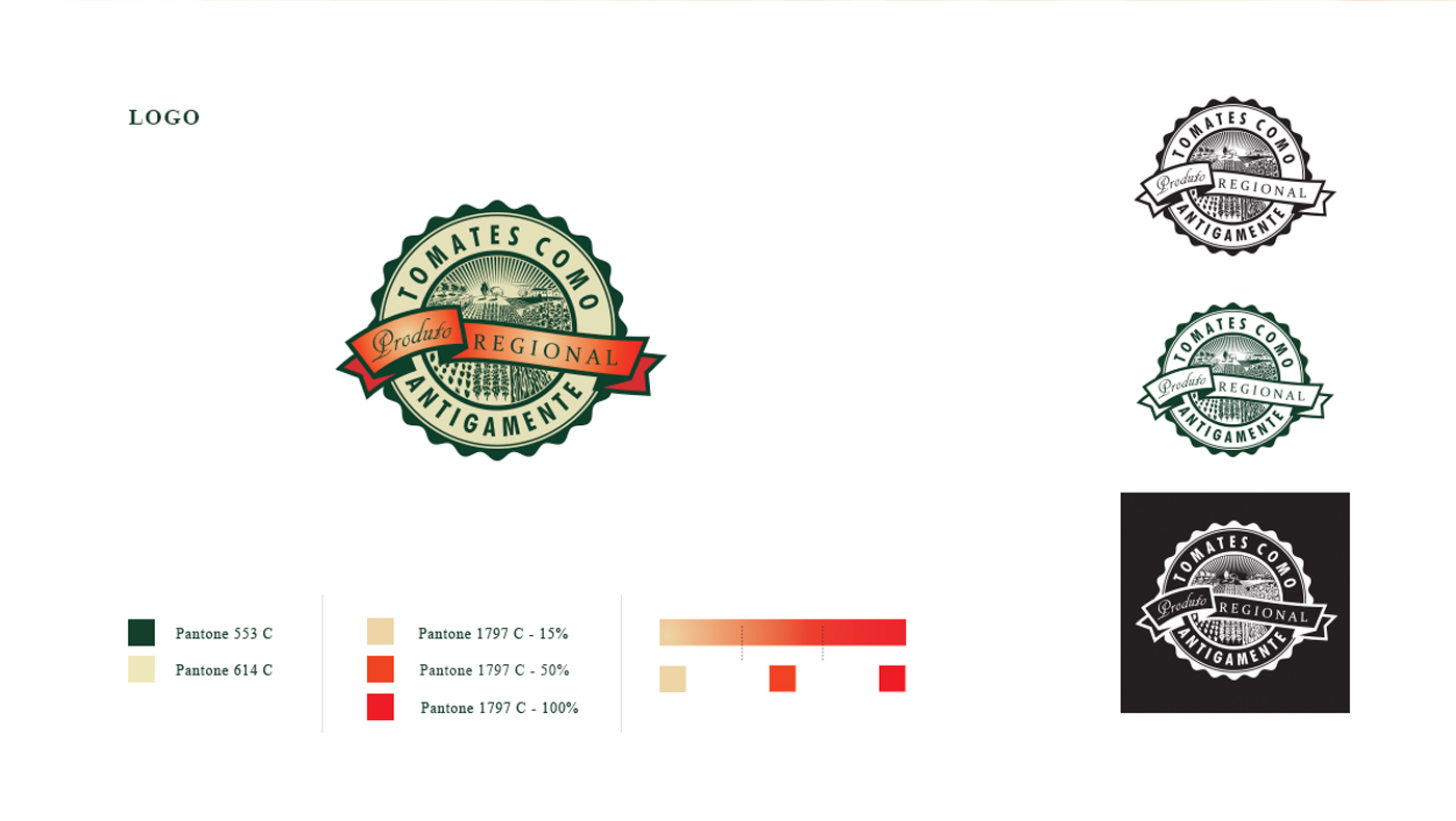 design de logomarca para tomates como antigamente