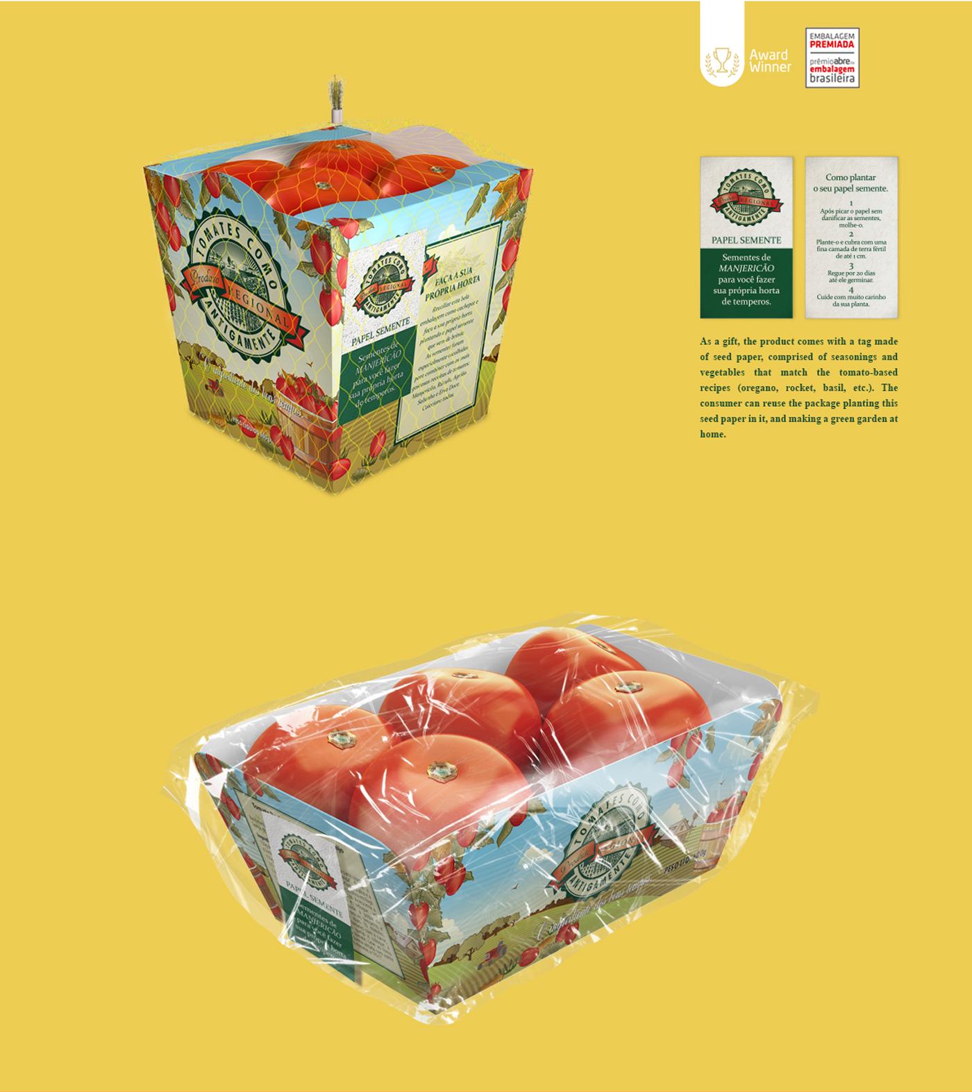 criação de embalagem do tipo bandeja para frutas