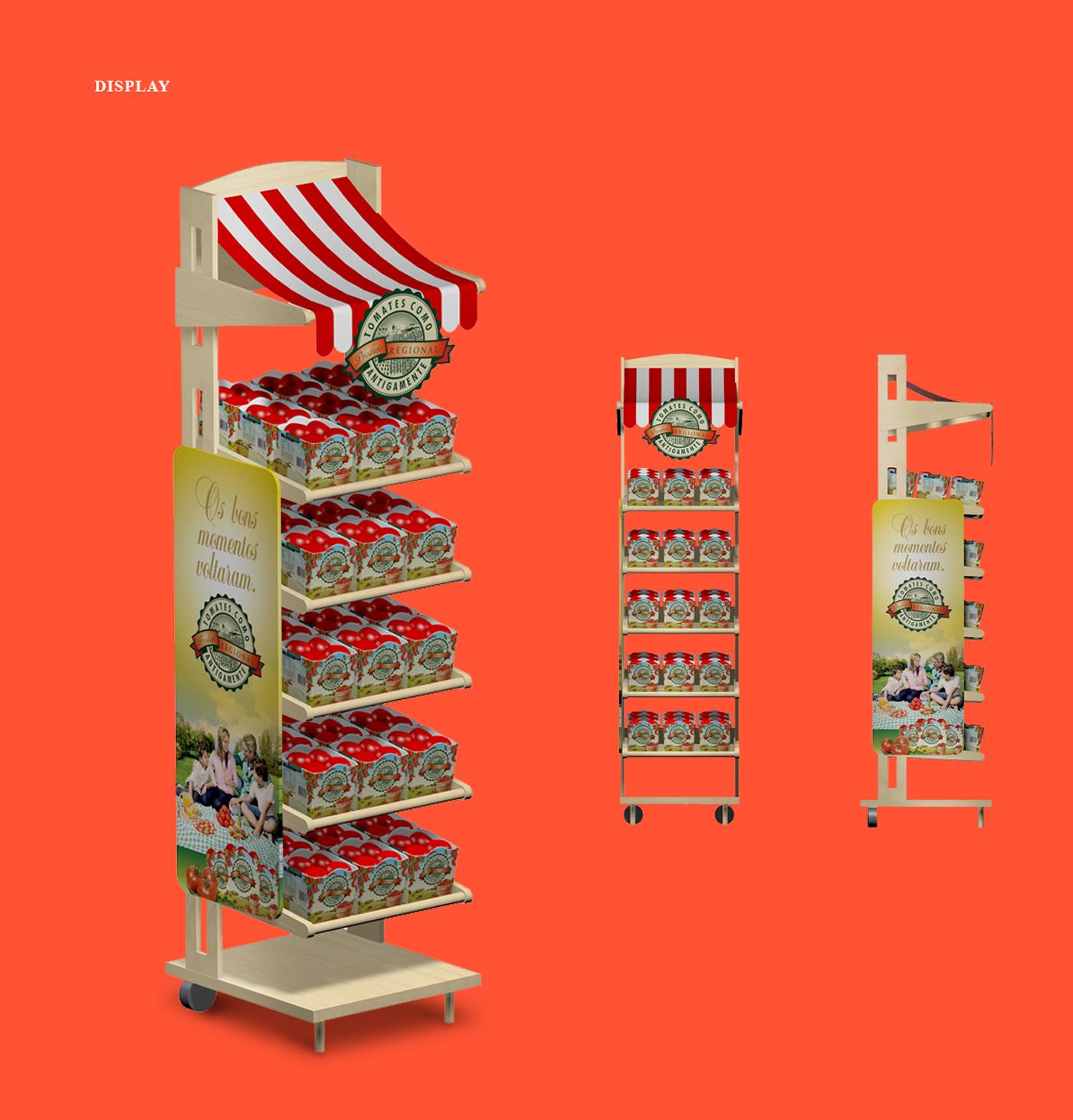 criação de expositores displays para bandejas para frutas e tomates