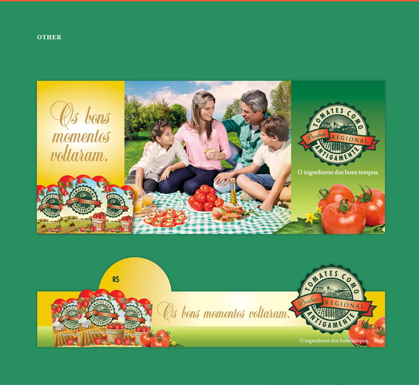 criação de campanha de comunicação para bandejas para frutas e tomates