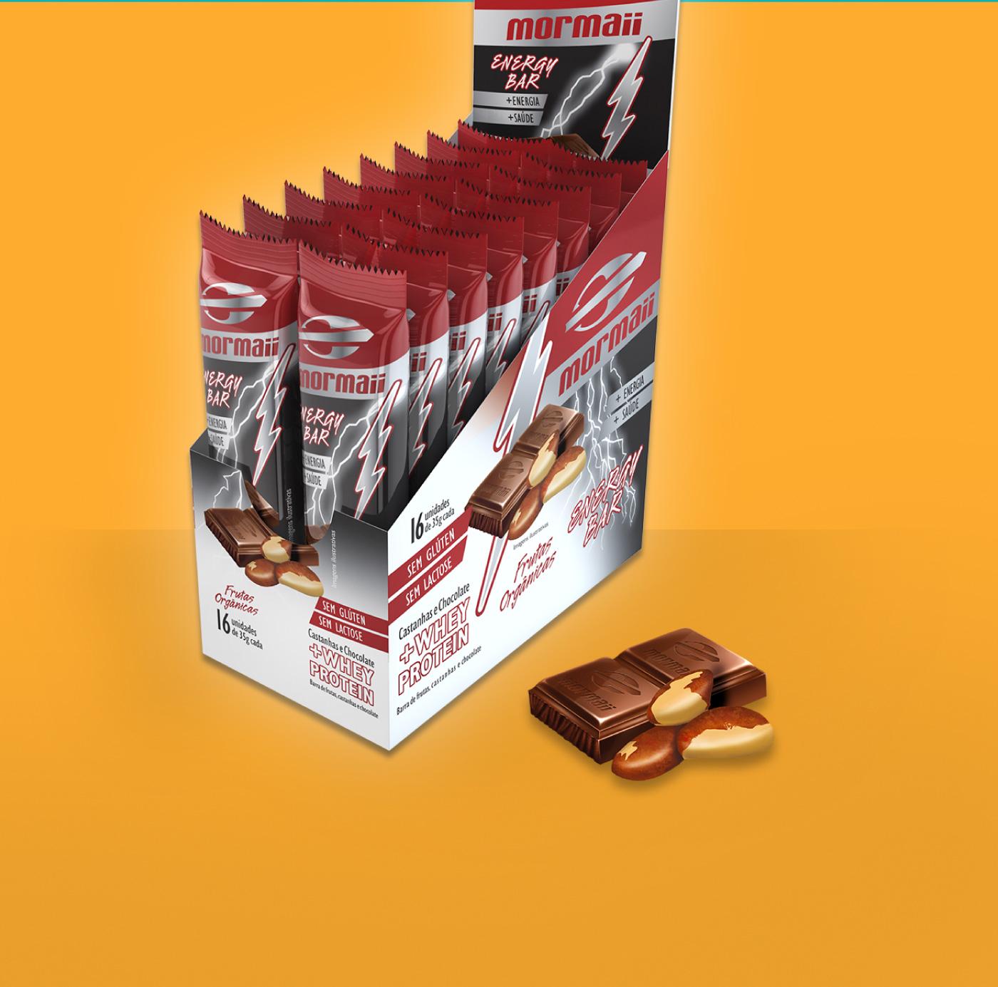 criação de embalagem para barras Mormaii