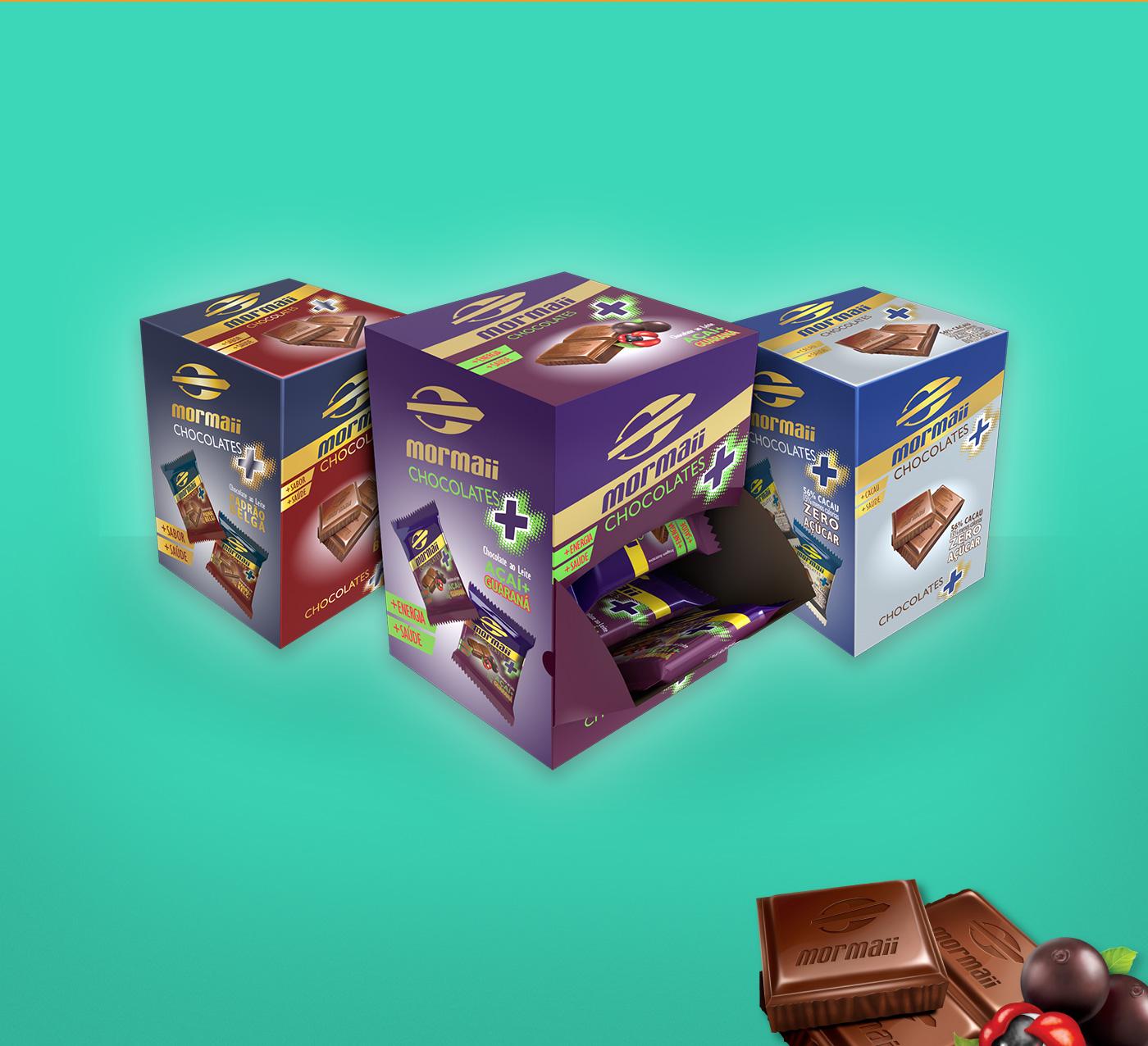 design de embalagem para chocolates Mormaii