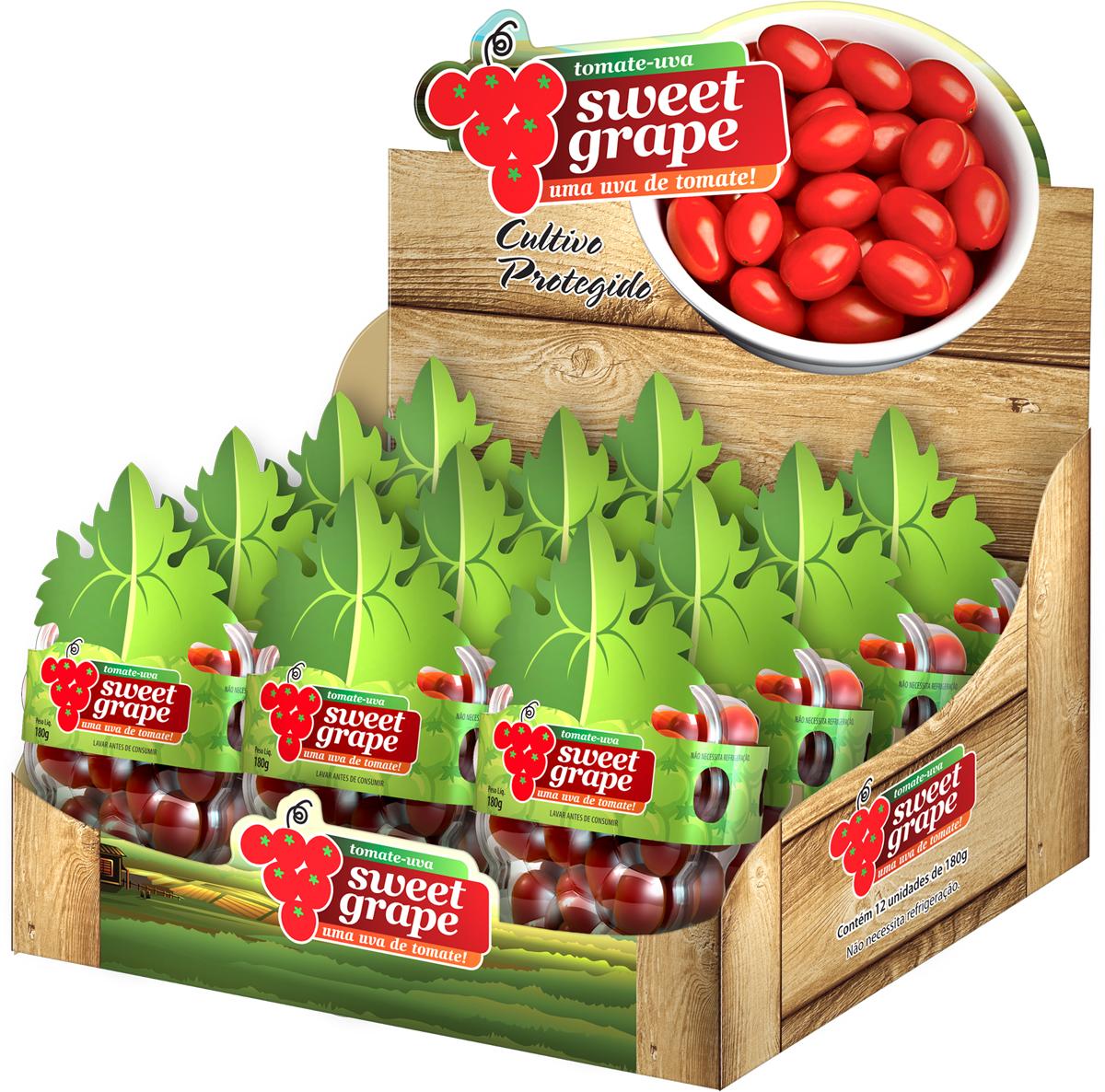 Design de Bandeja para tomates SWEET GRAPE - caixa display