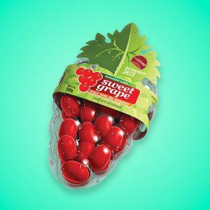 identidade visual para tomates Sweet Grape
