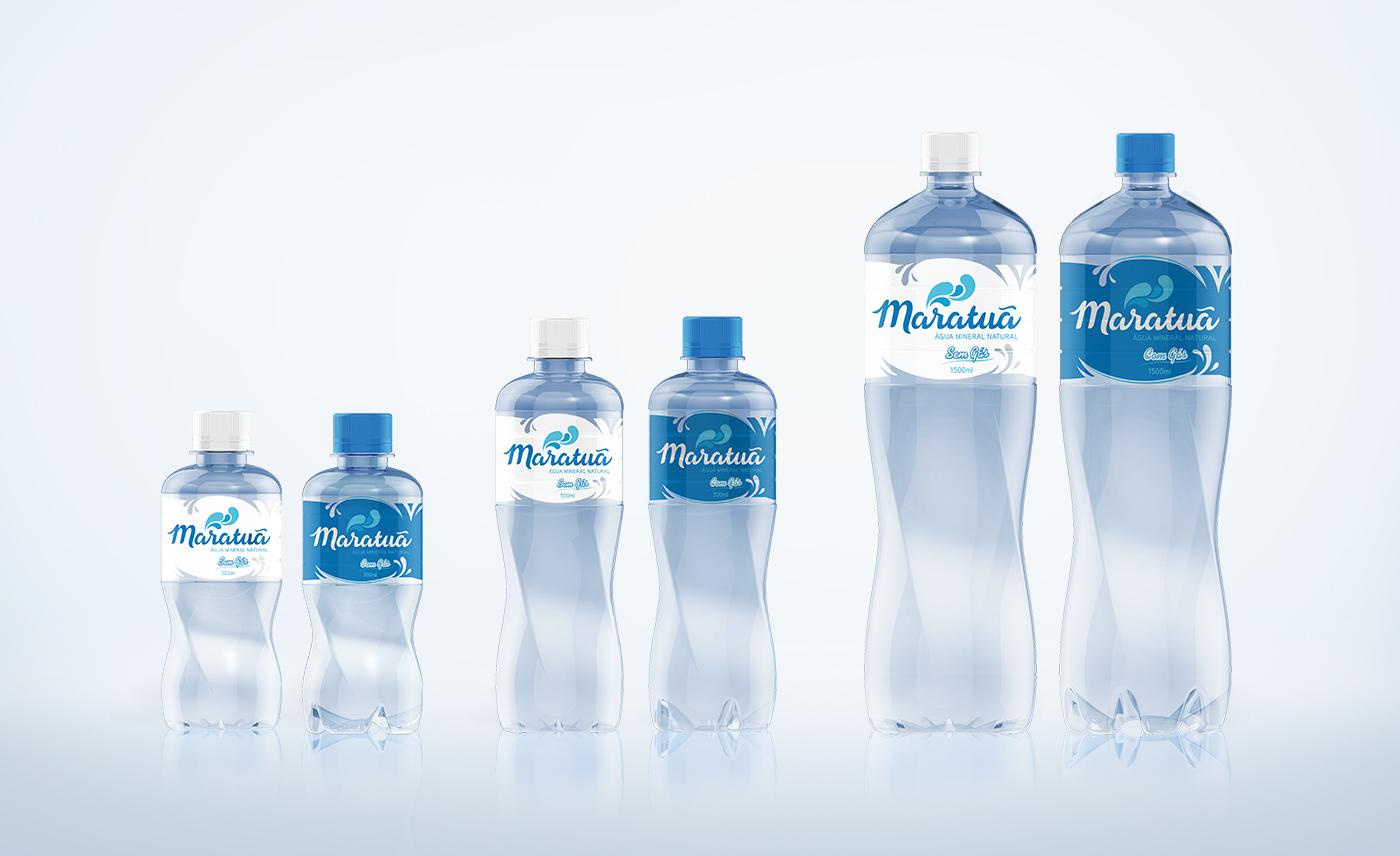 design de garrafas para agua mineral