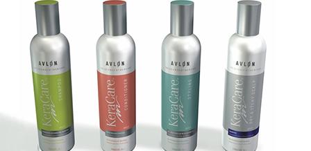 Design de embalagens produtos capilares KeraCare da AVLON
