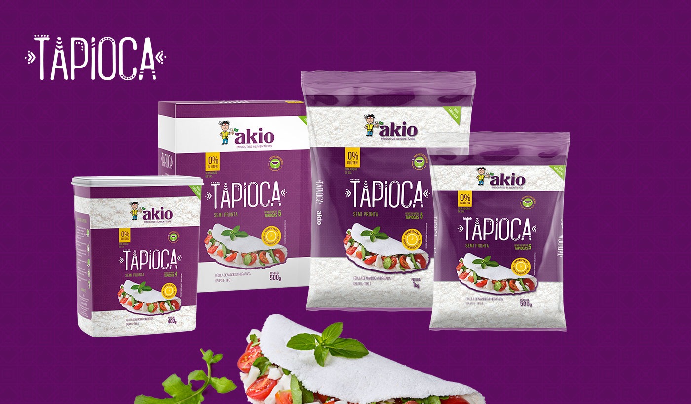 design embalagens tapioca akio