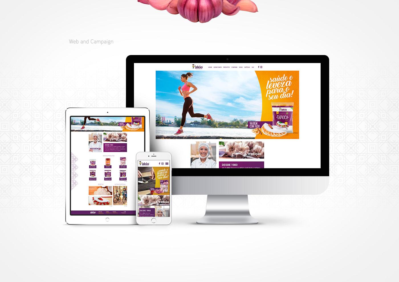 design site akio alimentos