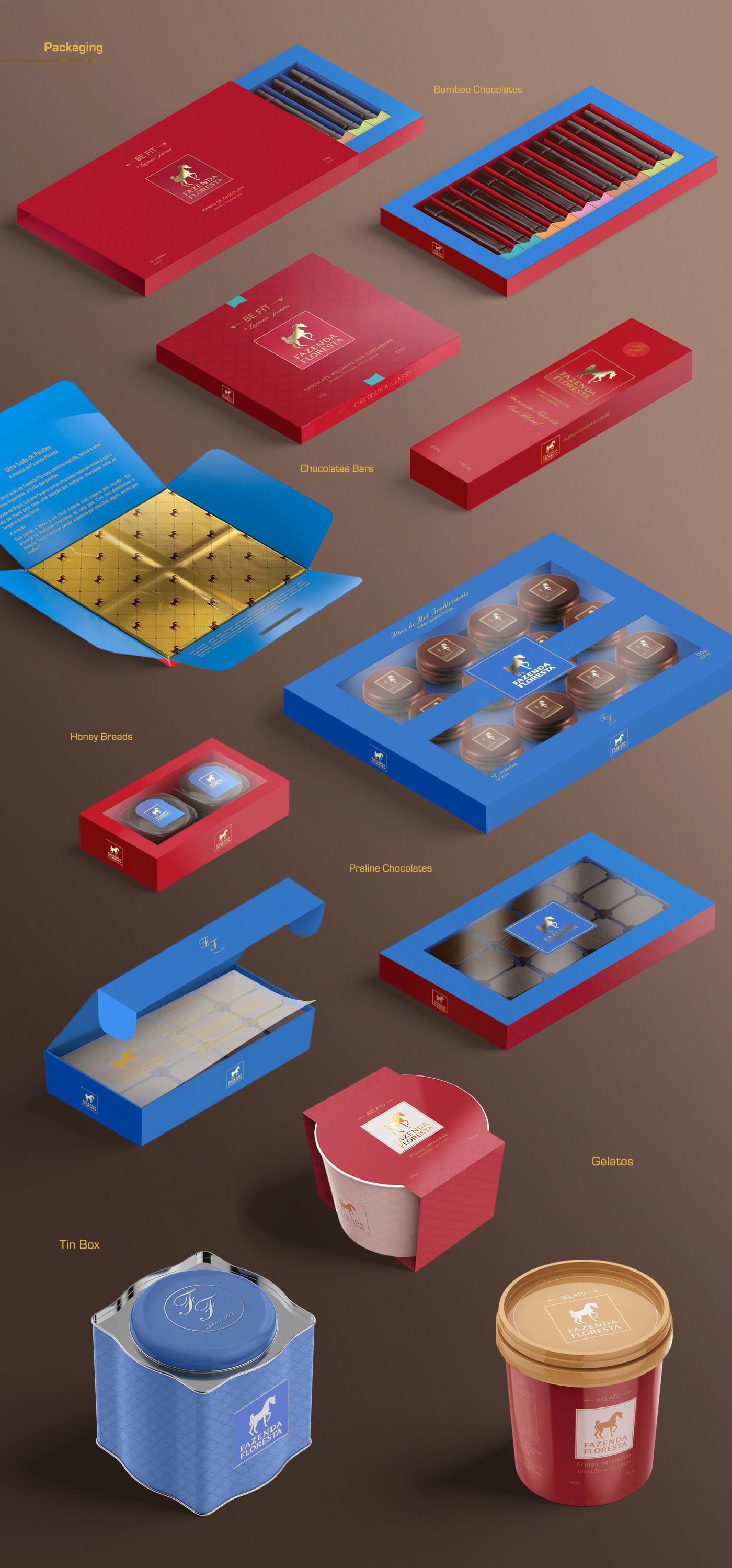 Design de embalagem para chocolates finos