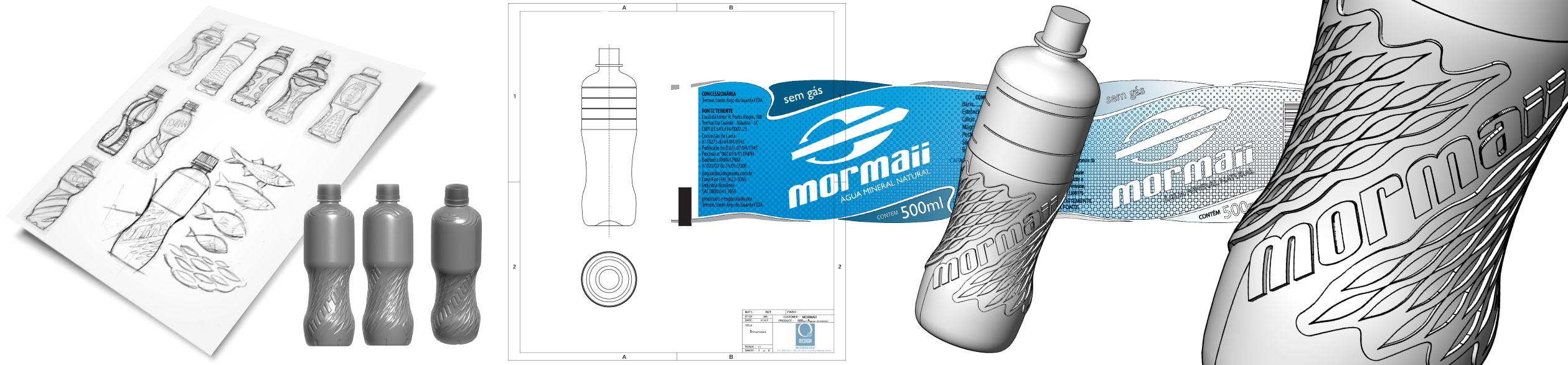 O3 Design - mormaii desenvolvimento garrafa pet