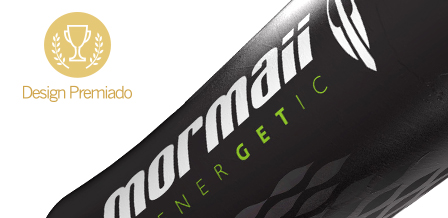 Design for MORMAII ENERGY DRINKS bottles and sleeve labels
