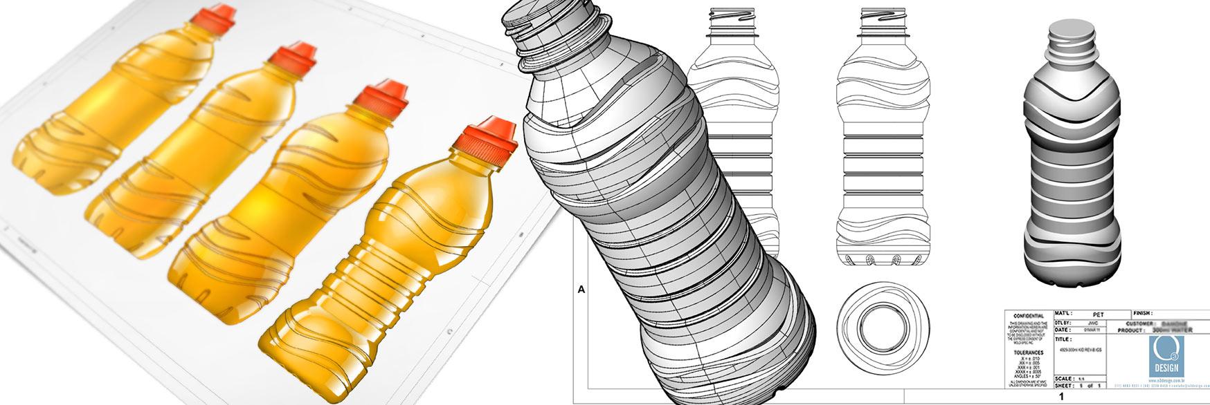 O3 Design - garrafa bonfont kids con jugo