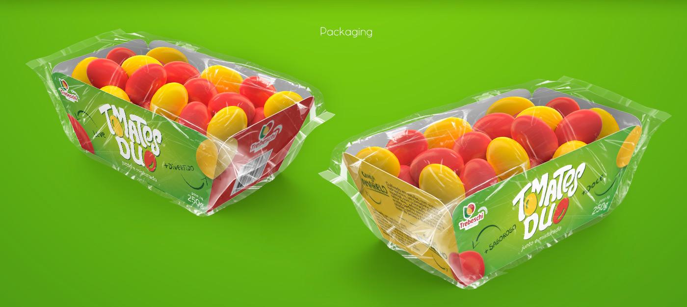 Design de embalagem para Tomates Duo