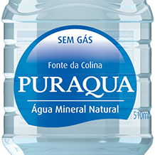 Branding e design de rótulos ÁGUA MINERAL PURAQUA